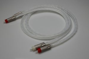 Master pure full Silver RCA Interconnects by Lavricables with AECO plugs