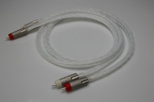 Reference pure Silver RCA Interconnects IC with AECO plugs by Lavricables