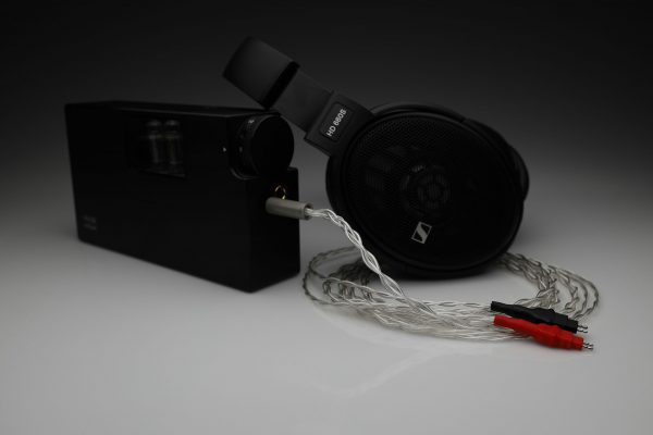 Master pure Silver awg22 multistrand litz Sennheiser HD580 HD600 HD650 HD660 HD6XX HD58X headphone upgrade cable by Lavricables