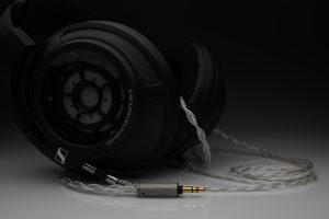 Ultimate pure Silver Sennheiser HD800 HD800s HD820 multistrand litz awg25 headphone upgrade cable by Lavricables