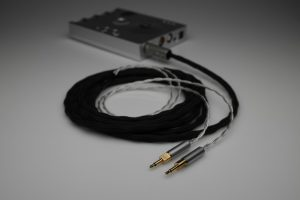 Ultimate pure Silver Sennheiser HD700 multistrand litz awg25 upgrade cable by Lavricables