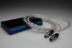 Master pure Silver awg22 multistrand litz Abyss AB-1266 headphone upgrade cable by Lavricables