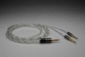 Ultimate pure Silver OPPO PM1 PM2 multistrand litz awg25 headphone upgrade cable by Lavricables