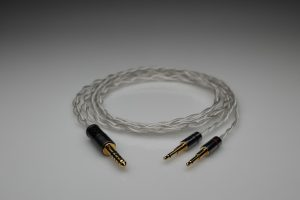 Ultimate pure Silver Audioquest Nighthawk multistrand litz awg25 headphone upgrade cable by Lavricables