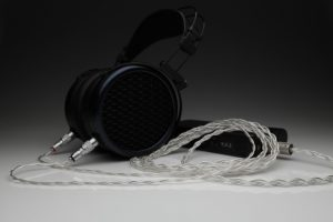 Ultimate pure Silver MrSpeakers DCA Dan Clark Audio Stealth Ether Flow C Aeon Alpha Dog Alpha Prime multistrand litz awg24 headphone upgrade cable by Lavricables