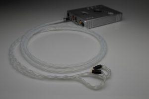 Reference pure Silver Custom Art FIBAE 2, FIBAE 3, FIBAE 4, PRO 330, Black, Harmony 8.2, Ei.3, Ei.XX iem upgrade cable by Lavricables
