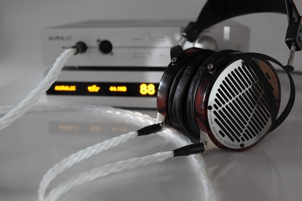 Grand 20 core pure Silver Audeze LCD3 LCDX LCD4 LCD-MX4 LCD-4z upgrade cable by Lavricables