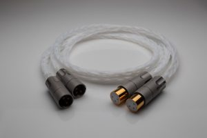 Grand 20 core pure Silver XLR balanced interconnects with AECO pure copper plugs by Lavricables