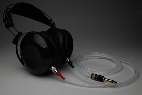 Master pure Silver MrSpeakers Dan Clark Audio Ether Flow C Aeon Alpha Dog Alpha Prime headphone upgrade cable by Lavricables