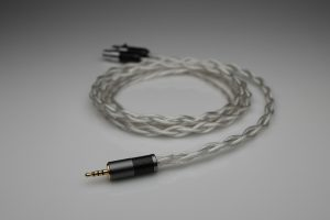 Grand pure Silver awg20 multistrand litz MrSpeakers DCA Dan Clark Audio Ether Flow C Aeon Alpha Dog Alpha Prime headphone upgrade cable by Lavricables