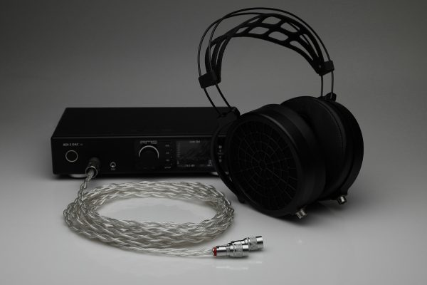 Grand pure Silver awg20 multistrand litz MrSpeakers DCA Dan Clark Audio Stealth Ether Flow C Aeon Alpha Dog Alpha Prime headphone upgrade cable by Lavricables