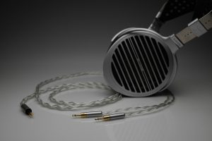 Grand 20 core pure Silver awg20 multistrand litz HiFiMan Susvara HE1000 Edition X headphone upgrade cable by Lavricables