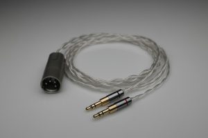 Ultimate pure Silver HiFiMAN Arya Sundara Ananda HE6se HE5se multistrand litz awg25 headphone upgrade cable by Lavricables