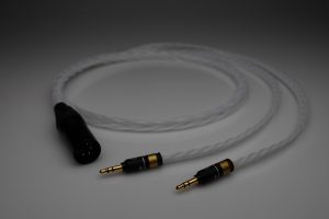 Grand 20 core pure Silver HiFiMan Arya HE1000se HE6se headphone upgrade cable by Lavricables