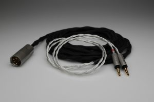 Grand 20 core pure Silver awg20 multistrand litz HiFiMan Arya HE1000se HE6se headphone upgrade cable by Lavricables