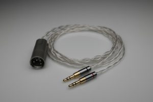 Master pure Silver Denon D9200 D7200 D7100 D600 multistrand litz awg22 headphone upgrade cable by Lavricables