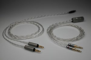Master pure Silver HiFiMan HE1000se Arya Sundara Ananda HE6se HE5se multistrand litz awg22 headphone upgrade cable by Lavricables