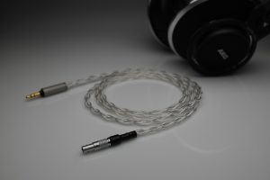 Ultimate pure Silver AKG 812 AKG 872 multistrand litz awg25 headphone upgrade cable by Lavricables