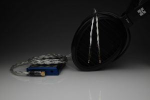 Master pure Silver awg22 multistrand litz HiFiMan HE1000se Arya Sundara Ananda HE6se HE5se headphone upgrade cable by Lavricables