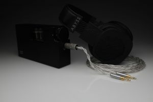 Master pure Silver awg22 multistrand litz Abyss Diana headphone upgrade cable by Lavricables