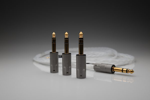 AECO AT6-1231G TRS 6.3mm balanced XLR 1060 plugs for pure silver cables by Lavricables