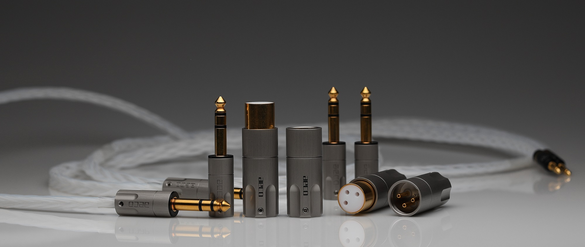 New pure copper XLR and 1/4″ headphone plugs available now!