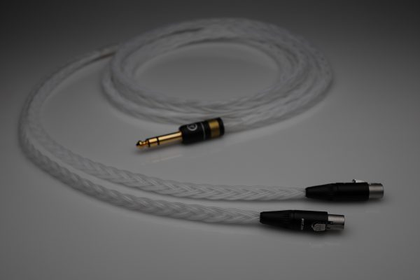 Grand 20 core pure Silver Abyss AB-1266 AB1266 Phi TC headphone upgrade cable by Lavricables