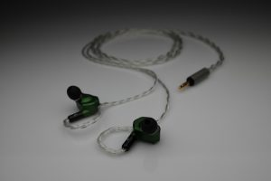 Reference pure multistrand silver Westone W4R UM3X UM3RC ES3 iem 2 pin upgrade cable by Lavricables