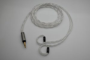 Master pure silver awg22 multistrand litz Westone W4R 64 Audio InEar StageDiver iem 2 pin upgrade cable by Lavricables