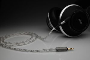 Master pure Silver AKG 812 AKG 872 multistrand litz awg22 headphone upgrade cable by Lavricables