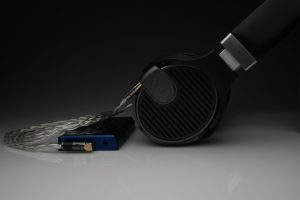 Master pure Silver awg22 multistrand litz Quad ERA-1 headphone upgrade cable by Lavricables