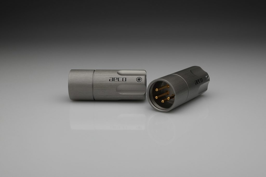 AECO AX4-1611G AX4-1611R balanced 4 pin XLR plug for pure silver cables by Lavricables