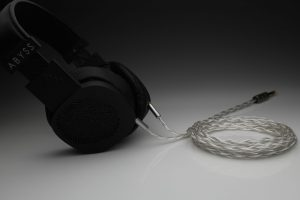 Grand pure Silver awg20 multistrand litz Abyss Diana headphone upgrade cable by Lavricables