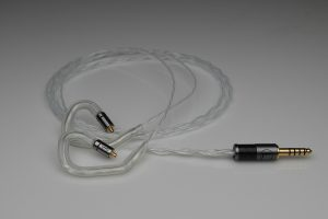 Reference pure solid silver awg28 Audeze Euclid iem mmcx upgrade cable by Lavricables