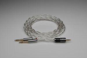 Ultimate pure Silver Meze 99 multistrand litz awg24 headphone upgrade cable by Lavricables